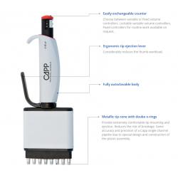 CAPP Aero multikanálové pipety