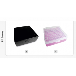 AHN myPlate 81-place box, black for 1.2 / 1.8 ml, PP