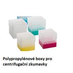 Polypropylénové krabičky pro centrifugační zkumavky