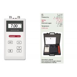 pH - mV - Conductivity - Salinity - TDS - Dissolved oxygen - Temperature